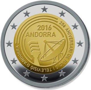 638b130031 2 Euromunt van Andorra uit 2016 met het motief 25-jarig bestaan van de  Andorrese