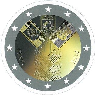 2 Euro Estland 100ste Verjaardag Van De Republiek Estland